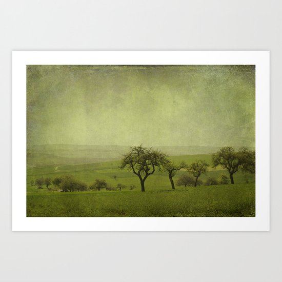 fields and apple trees Art Print