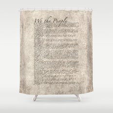 US Constitution - United States Bill of Rights Shower Curtain