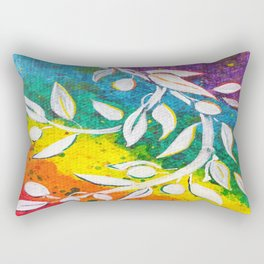 Leaves on the World Tree: The Albanian Olive Rectangular Pillow