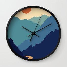 Mountains & River II Wall Clock