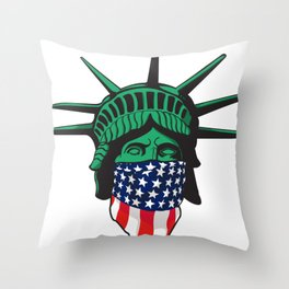 Statue of Liberty USA Throw Pillow