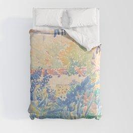The Artist's Garden at Saint-Clair by Henri-Edmond Cross 1904-5, French Comforters