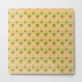 light orange avocado pattern Metal Print