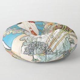 Alfons Mucha - Monaco, Monte Carlo - Digital Remastered Edition Floor Pillow