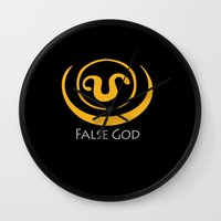 stargate Wall Clocks featuring False God. Inspired by Stargate SG1 - The symbol of Apophis as worn by Teal'c by hypergeek