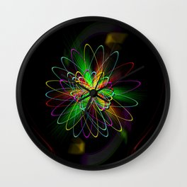 Abstract in Perfection - Magic of the rings Wall Clock