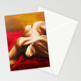 Sleeping Male Stationery Cards
