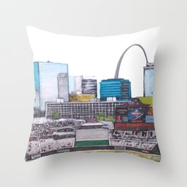 Busch Stadium St. Louis Throw Pillow