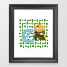 E for elf Framed Art Print