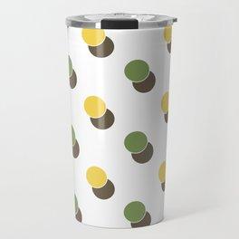 Yellow Green Spot Dot Geometric Print Travel Mug