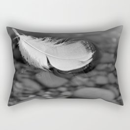 White Feather Floating on Water Rectangular Pillow