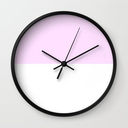 White and Pastel Violet Horizontal Halves Wall Clock