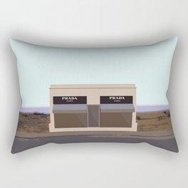 Marfa Installation: A digital illustration Rectangular Pillow