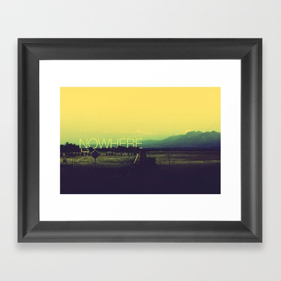 On a road to nowhere Framed Art Print