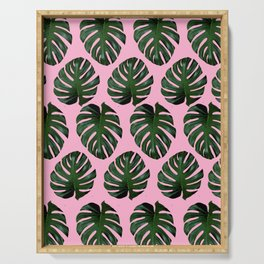 Pink Fronds Serving Tray