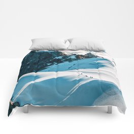Snow Top Mountains (Color) Comforters