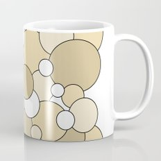 Bubbles - brown and white Mug