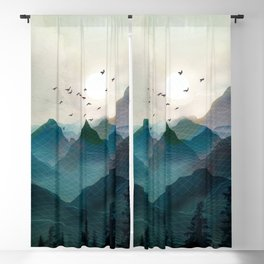 Mountain Sunrise II Blackout Curtain