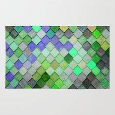 PRETTY - green palette Rug
