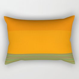 Re-Created  Color Field and Stripes 7 by Robert S. Lee Rectangular Pillow