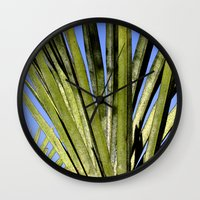 palm Wall Clocks featuring Palm by Boris Burakov