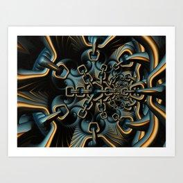 House of Chains Fractal Art Print