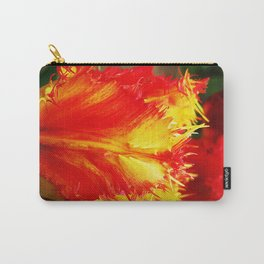 Curly Tulip Red And Yellow Carry-All Pouch