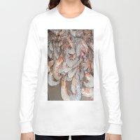 large Long Sleeve T-shirts featuring Large shrimp by lennyfdzz