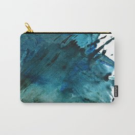 Scenic Route [2]: a pretty, minimal abstract piece in blue and green by Alyssa Hamilton Art Carry-All Pouch