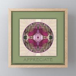 Appreciate Manifestation Mandala No. 1 Framed Mini Art Print