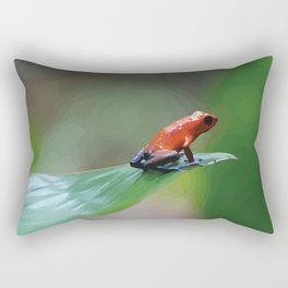Blue Jeans Frog Costa Rica Rectangular Pillow