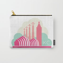 Kansas City in the Clouds - Pink Carry-All Pouch