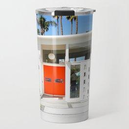 Mid Century Orange Travel Mug