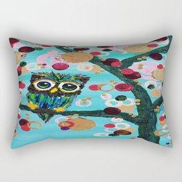 :: Gemmy Owl Loves Jewel Trees :: Rectangular Pillow