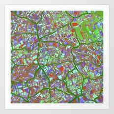 Fantasy City Maps 2 Art Print