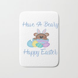 Have A Beary Happy Easter Bunny Bear Gifts Bath Mat