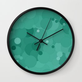 Lucite Green Bubble Dot Color Accent Wall Clock
