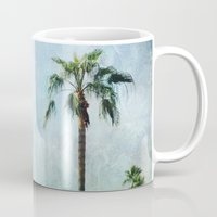 palm trees Mugs featuring Palm trees by Sylvia Cook Photography
