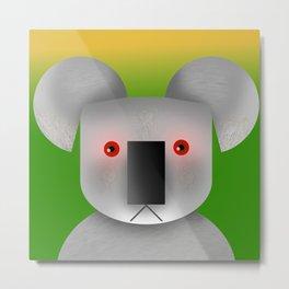 Geometrical koala Metal Print