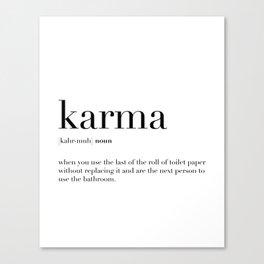 Karma Definition Canvas Print