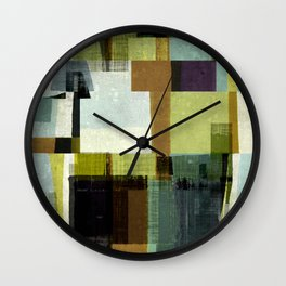 modern mid century, Geometric art, contemporary art, Scandinavian art, retro art, poster print, fami Wall Clock
