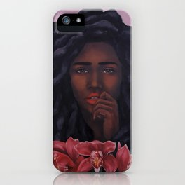 Red Orchid iPhone Case