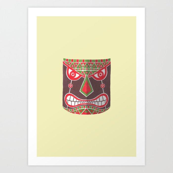 The Polynesian Mask Art Print