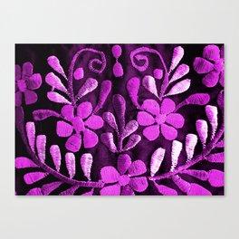 Violet Mexican Flowers Canvas Print