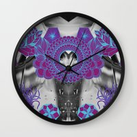 geode Wall Clocks featuring Geode 2 by michiko_design