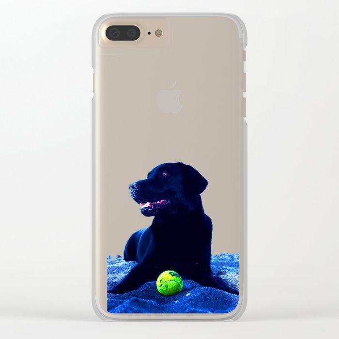 Ziggy Black Labrador Clear iPhone Case