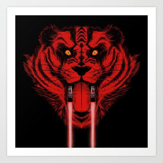 Dark Side Saber-Toothed Tiger Art Print