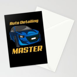 Automobile Racing Car Chrome Car Details Stationery Cards