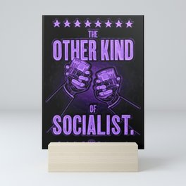 """Vintage """"The Other Kind of Socialist"""" Alcoholic Lithograph Advertisement in vivid purple Mini Art Print"""