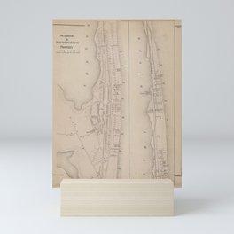 Vintage Map of Sea bright & Monmouth NJ (1873) Mini Art Print